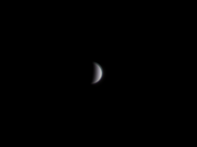 Object: Venus, Camera/Mount: ASI120MC-S and Losmandy G11 (unguided), Telescope/Lens: Celestron EdgeHD 800 (Date: 08.04.2020)