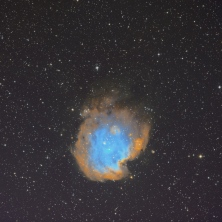 Object: NGC2175 Monkey Head Nebula Camera/Mount: ZWO ASI1600MMPro on Losmandy G11 Gemini, ZWO 120MC Autoguider, Telescope/Lens: Takahashi Epsilon 130d , Exposure: 3.0h Ha,Oiii,Sii (Narrowband), 3m and 2m Subs (Date: 01.03.21)